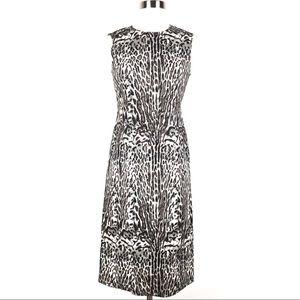 DONNA KARAN sheath dress animal print sleeveless